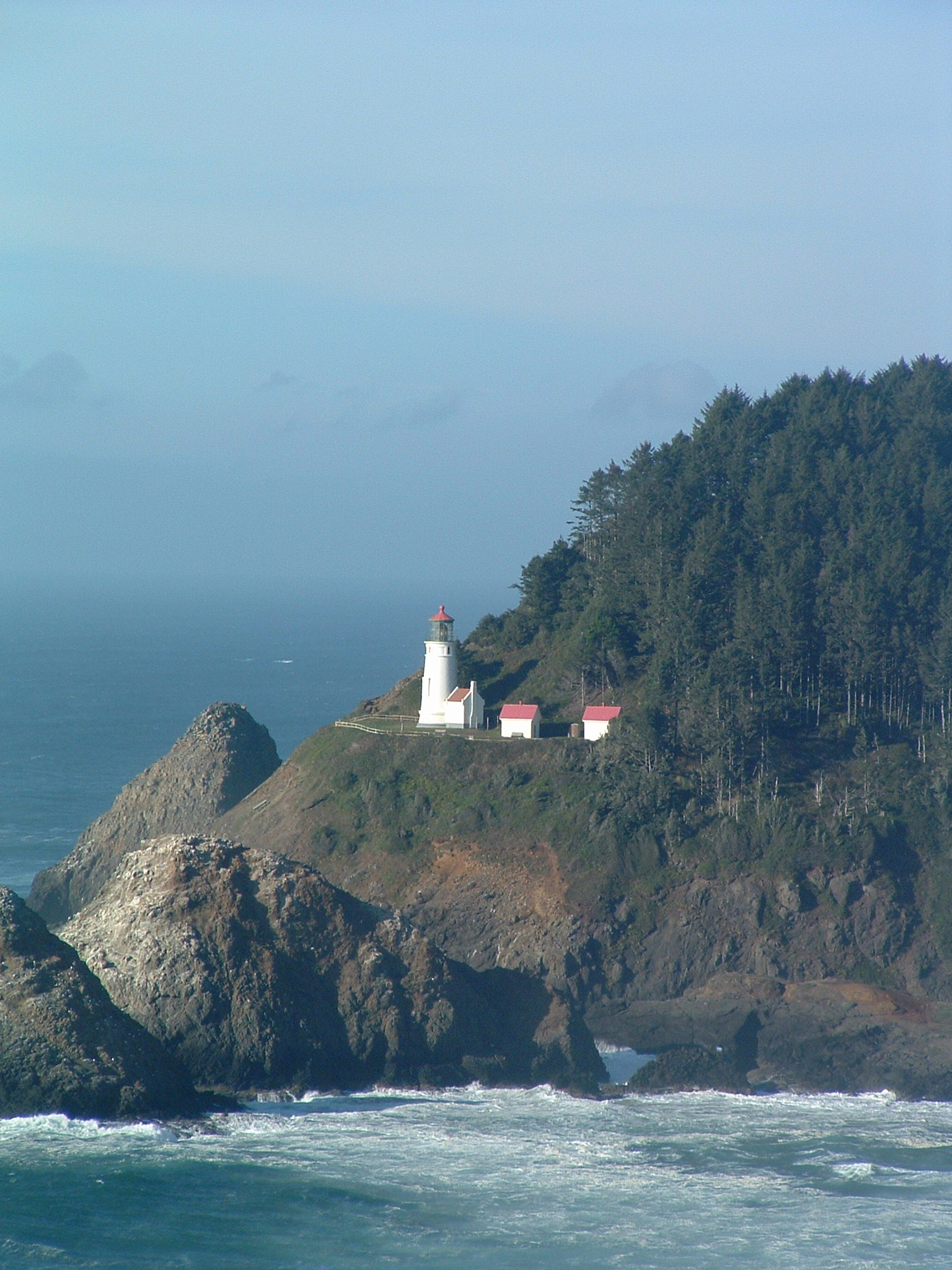 Heceta Head Lighthouse Light Goes Dark Oregon Coast